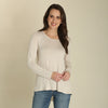Wrangler Women's Knit Long Sleeve Sweater With Ruffle Trim