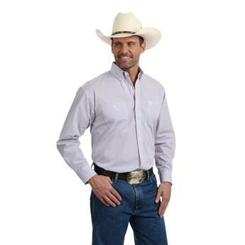 Wrangler Men's George Strait Print Long Sleeve Shirt