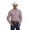 Wrangler Men's George Strait Small Plaid Long Sleeve Shirt