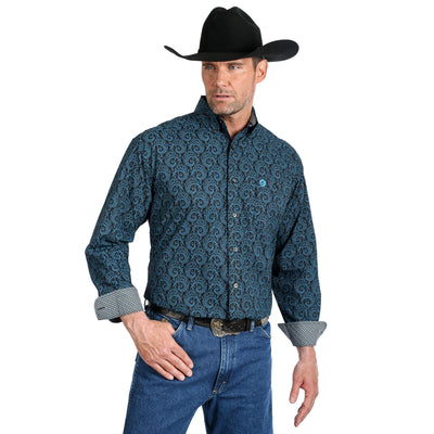 Wrangler Men's George Strait Paisley Long Sleeve Shirt