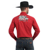 Wrangler Men's PBR Logo Long Sleeve Shirt