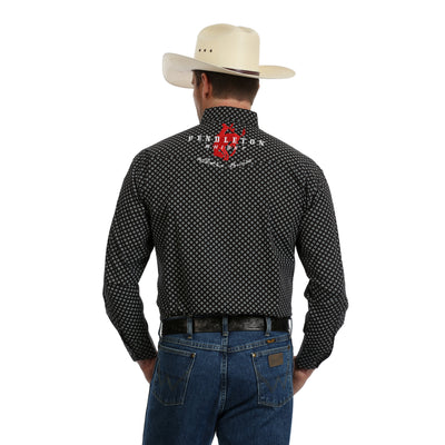 Wrangler Men's Pendleton Logo Print Long Sleeve Shirt