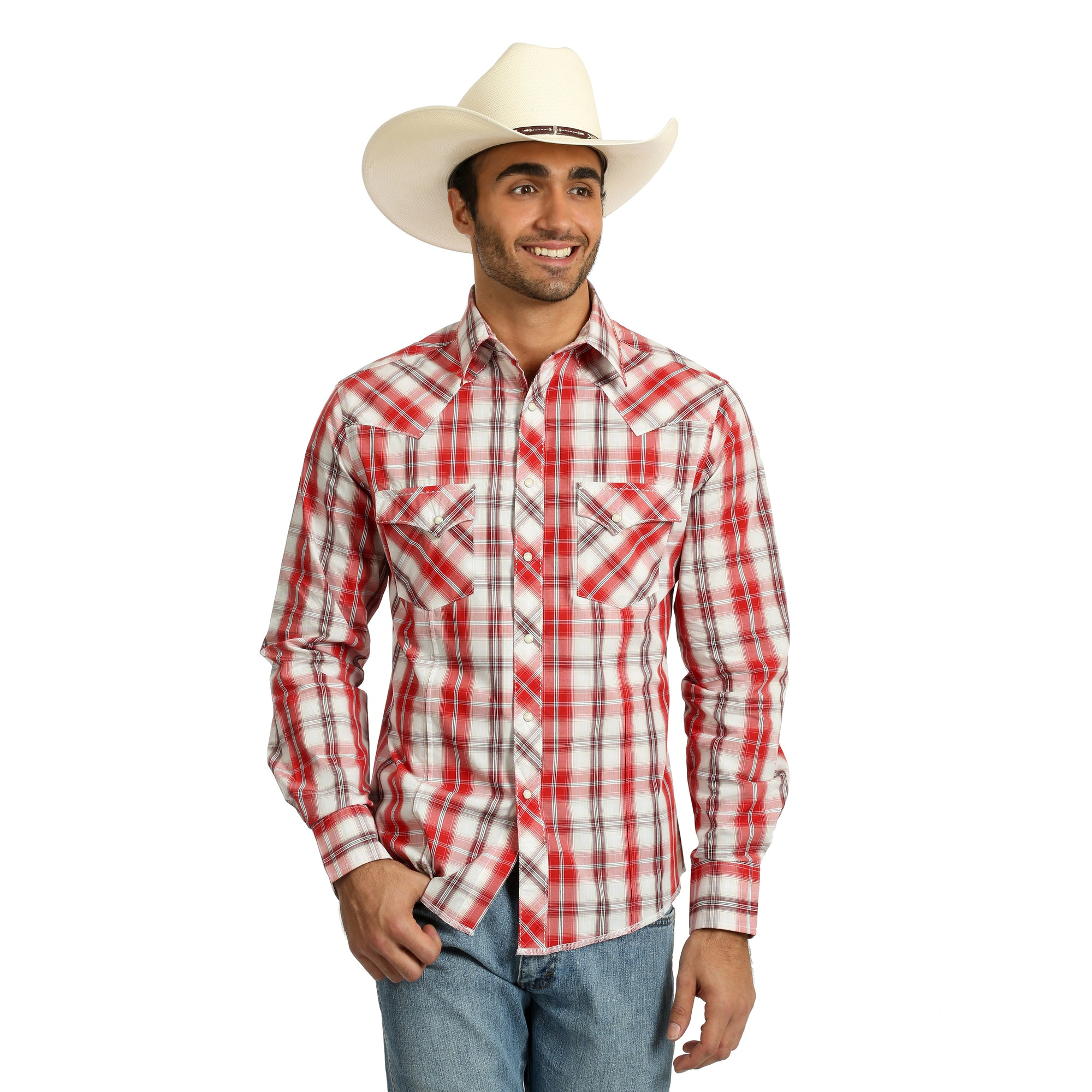 Wrangler Men's Plaid Long Sleeve Shirt