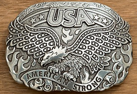 Nocona America Strong Soaring Eagle Belt Buckle