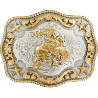 Nocona Men's Bronc Rope Edge Belt Buckle