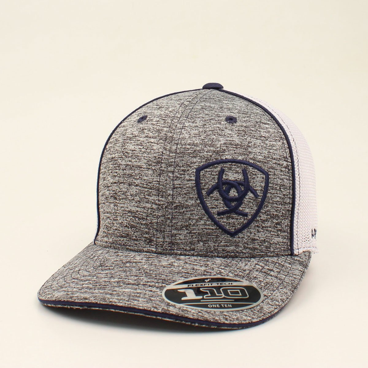 Ariat Flexfit Navy Logo White Mesh Ballcap