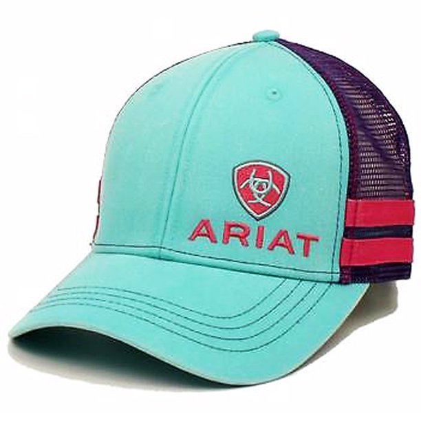 Ariat Women's Logo Ball Cap Turquoise & Purple