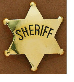 M&F Western Children's Gold Sheriff Badge