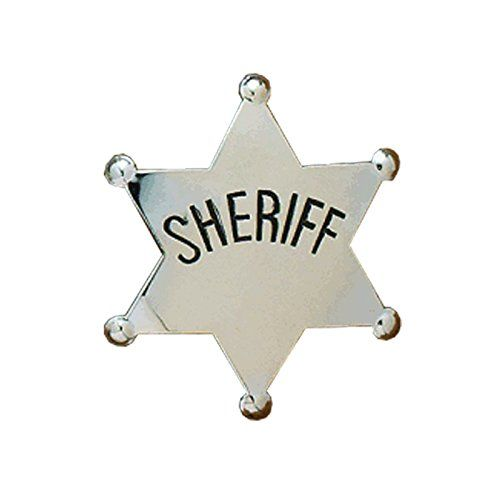 M&F Western Children's Silver Sheriff Badge