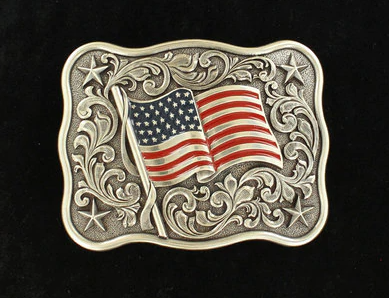 Nocona by M&F USA Flag Proud Belt Buckle
