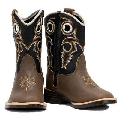 M & F Western Toddler Double Barrel Trace Western Boots