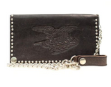 Nocona Leather Men's Flag Chain Leather Wallet
