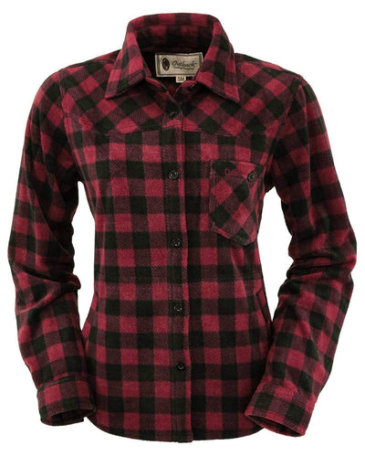 Outback Trading Women's Big Shirt - Wine