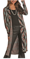 Panhandle Rock & Roll Cowgirl Aztec Print Cardigan