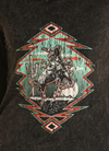 Panhandle Rock & Roll Cowgirl Bronc Rider Tee