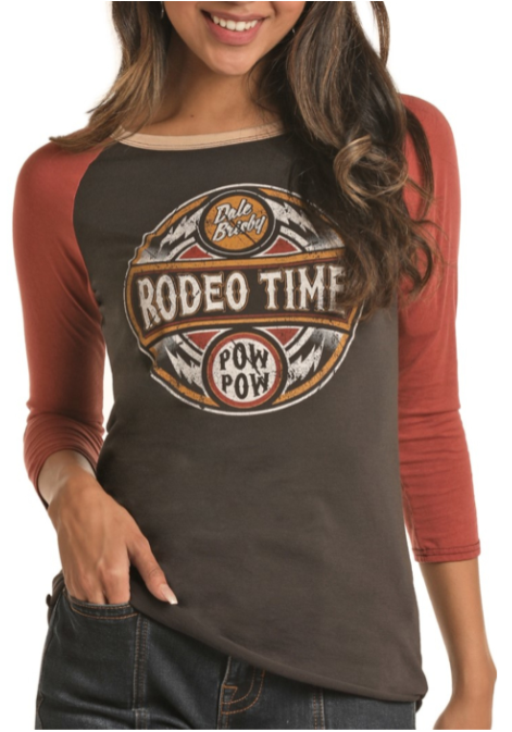 "Panhandle Rock & Roll Cowgirl Dale Brisby ""Rodeo Time"" Tee"