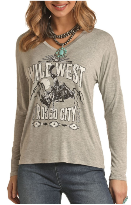 Panhandle Rock & Roll Cowgirl Rodeo Graphic Tee