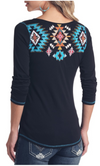 Panhandle Women's Aztec Long Sleeve Top