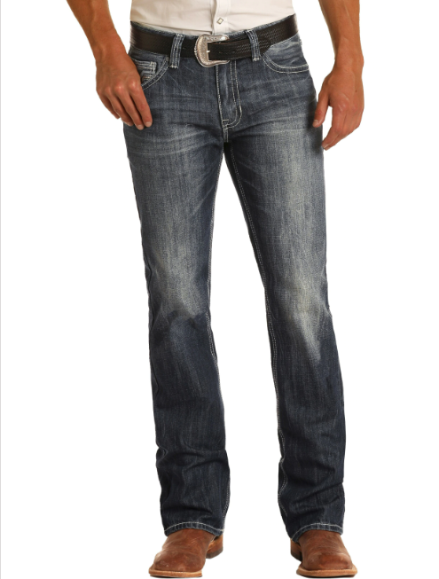 Panhandle Rock & Roll Denim Men's Relaxed Fit Straight Leg Jean