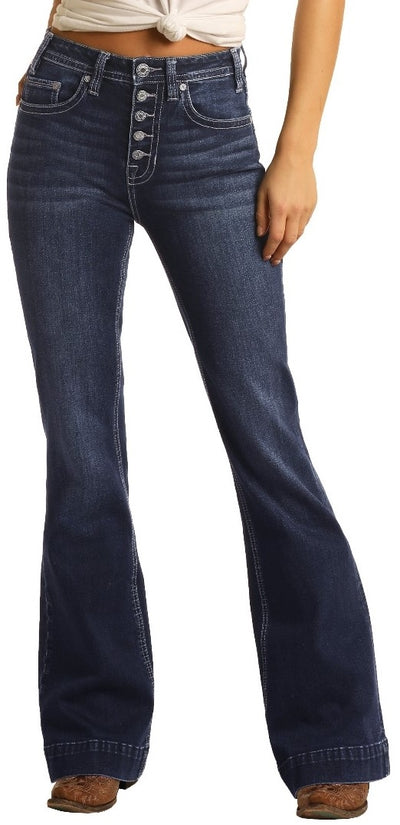 Panhandle Women's High Rise Trouser Extra Stretch Jeans