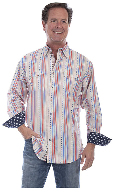 Scully Men's Long Sleeve Election Shirt Series