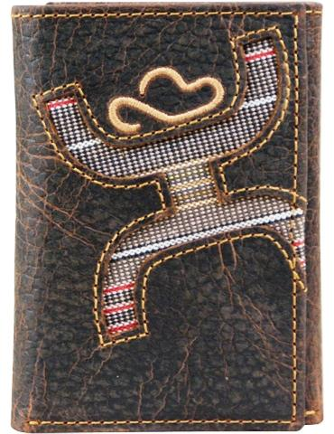Hooey Men's Signature Brown Tri-Fold Wallet