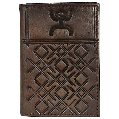 Hooey Men's Tooled Leather Tri-Fold Wallet