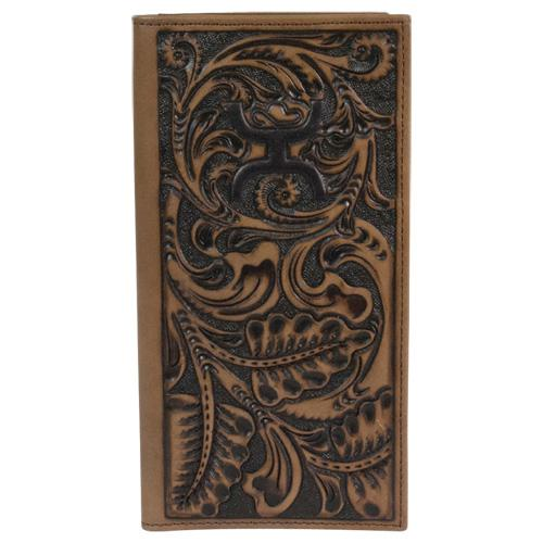 Trenditions Hooey Chocolate Tooled Rodeo Wallet