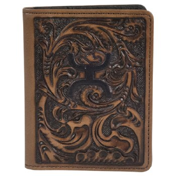 Trenditions Hooey Chocolate Tooled Money Clip