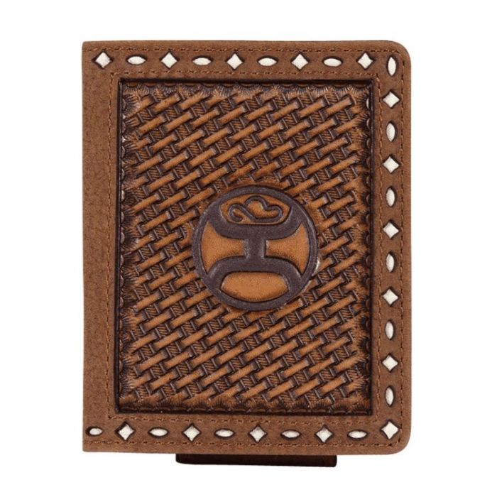 Hooey Men's Basketweave Bi-Fold Magnetic Wallet