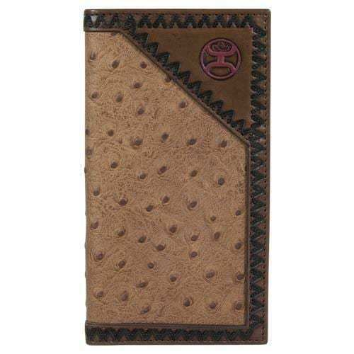 Hooey Men's Ostrich Print Rodeo Wallet