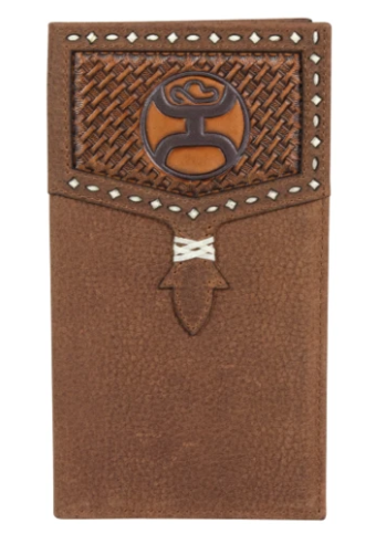 Hooey Men's Basketweave Logo Rodeo Wallet
