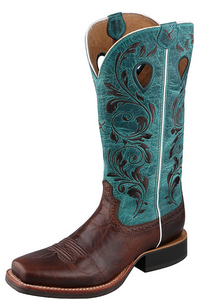 Twisted X Women's Ruff Stock Western Boot - Choc/Turq