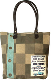 Vintage-Addiction Dirt Roads Tent Patchwork Tote