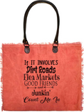 Vintage-Addiction Good Friends Junkin' Market Tote