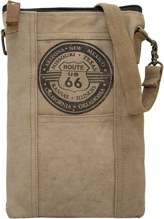 Vintage-Addiction Route 66 Recycled Tent Crossbody