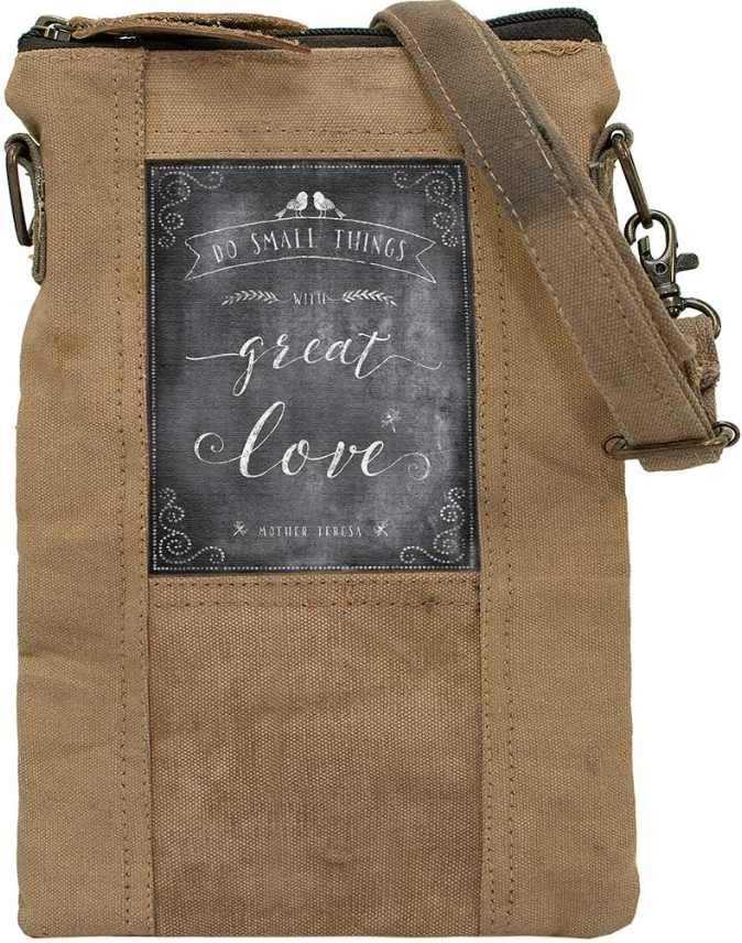 Vintage-Addiction Small things/Great Love Recycled Tent Crossbody