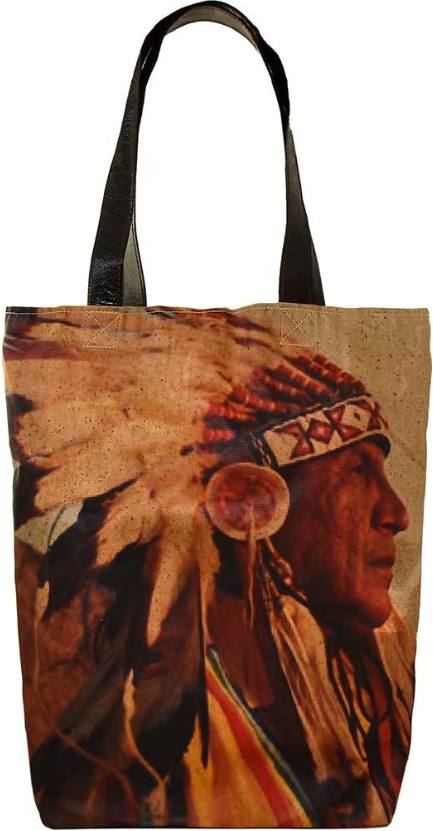 Vintage-Addiction Indian Chief Shoulder Tote