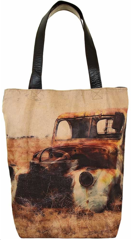Vintage-Addiction Outback Truck Shoulder Tote