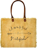 Vintage-Addiction Thankful & Grateful Market Tote