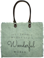 Vintage-Addiction And I Think To Myself Market Tote