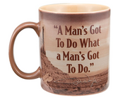 Vandor John Wayne A Man's Got To Do Ceramic Mug