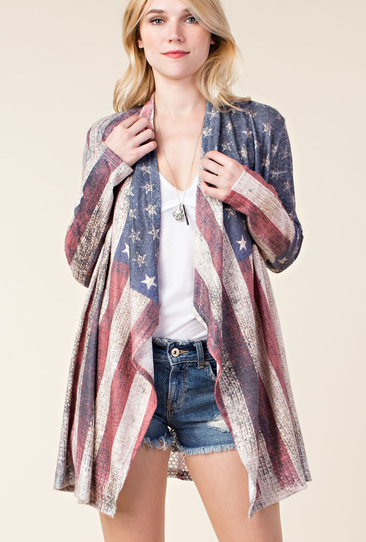 Vocal Apparel Women's Flag Cardigan