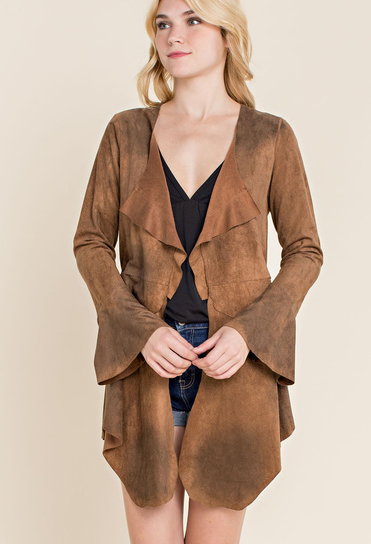 Vocal Apparel Women's Suede Jacket - Camel