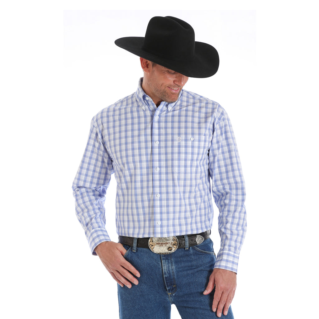 Wrangler Men's George Strait Long Sleeve Western Shirt - Big & Tall