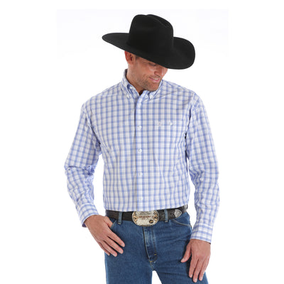 Wrangler Men's George Strait Long Sleeve Western Shirt