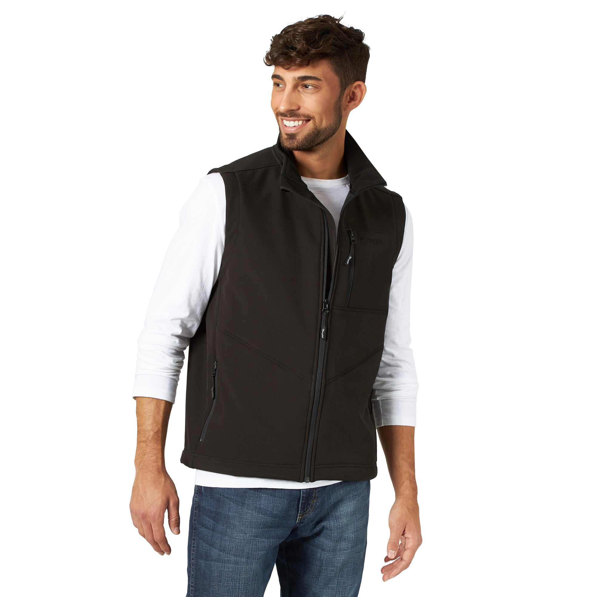 Wrangler Men's Conceal Carry Trail Vest - Black