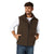 Wrangler Men's Conceal Carry Trail Vest - Brown Heather