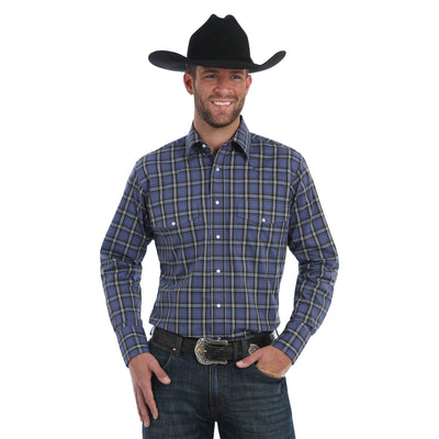 Wrangler Men's Wrinkle Resist Long Sleeve Western Shirt - Big & Tall