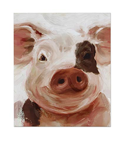 Young's Inc Pig Wall Canvas Art - IN STORE PURCHASE ONLY!